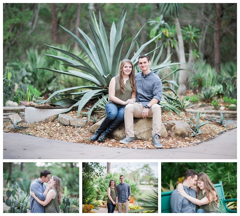 Port St Lucie Botanical Gardens Engagement Photography